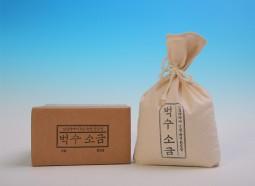 [벅수소금] 볏짚가마소금 1kg(한정수량5000개)